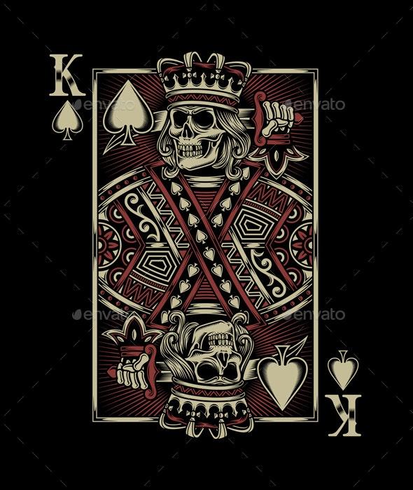Skull Playing Card - Decorative Symbols Decorative