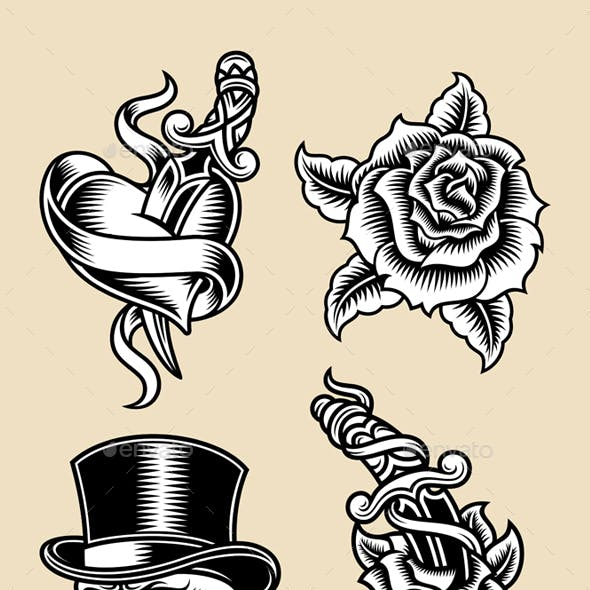 Flash Tattoo Designs from GraphicRiver