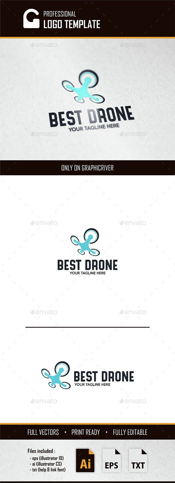 Best Drone Logo - Objects Logo Templates
