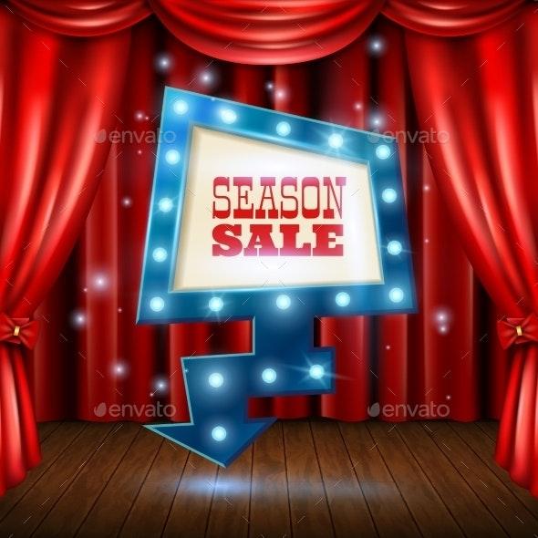Season Sale Light Banner Illustration  - Concepts Business