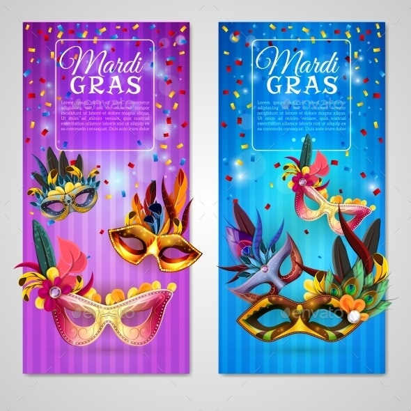 Carnival Banners Set  - Miscellaneous Seasons/Holidays