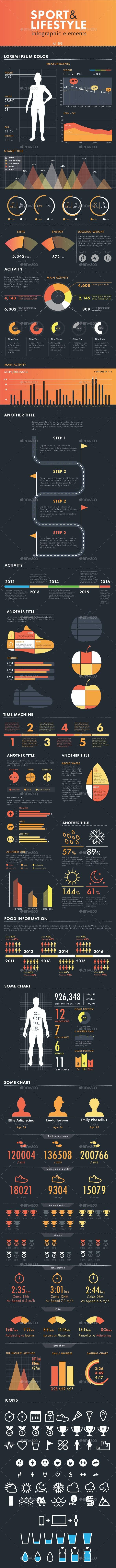 Sport & Lifestyle Infographic Set - Infographics