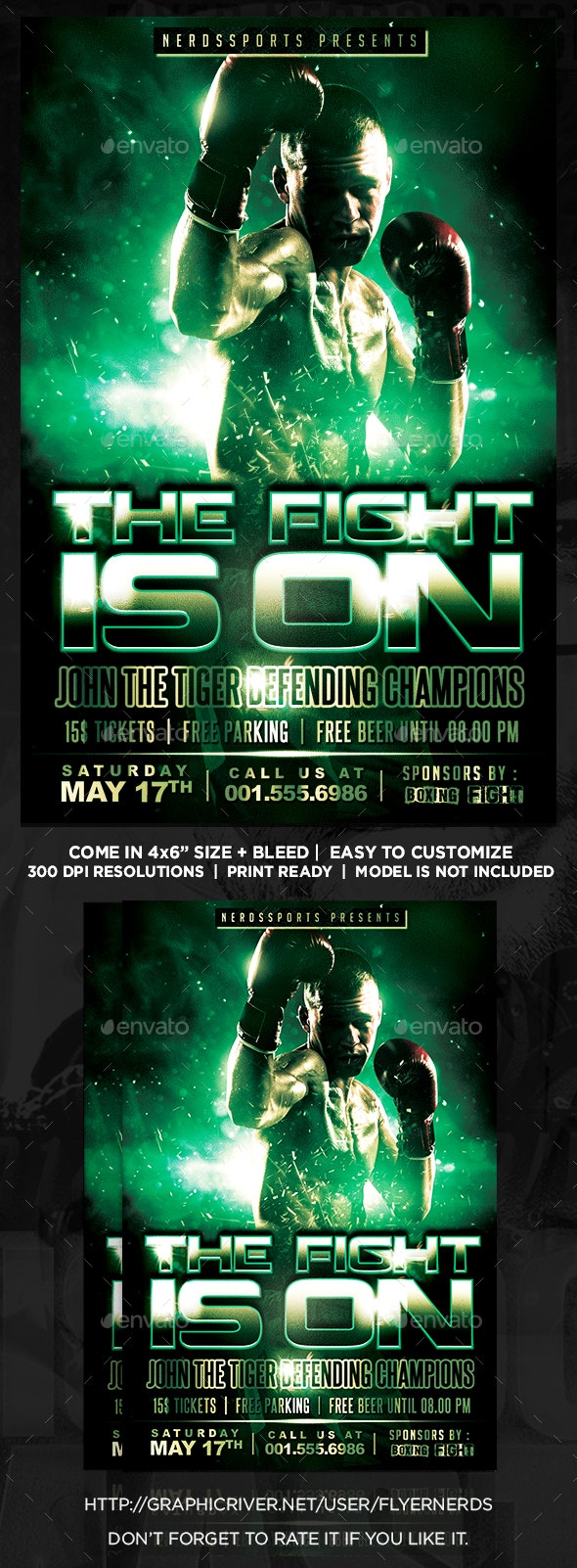 The Fight Is On Sport Flyer - Sports Events