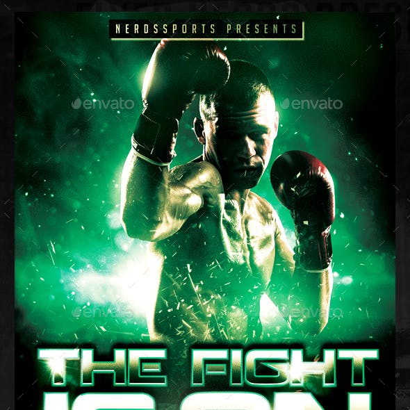 The Fight Is On Sport Flyer
