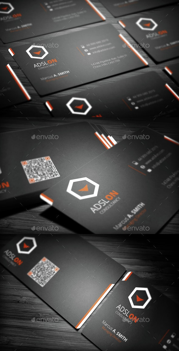 Cool Corporate Business Card - Creative Business Cards