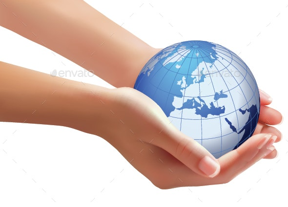 World in Woman Hands - Nature Conceptual