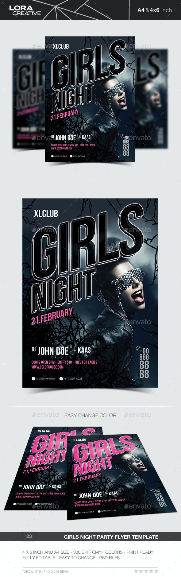 Girls Night Party Flyer / Poster - 23 - Clubs & Parties Events