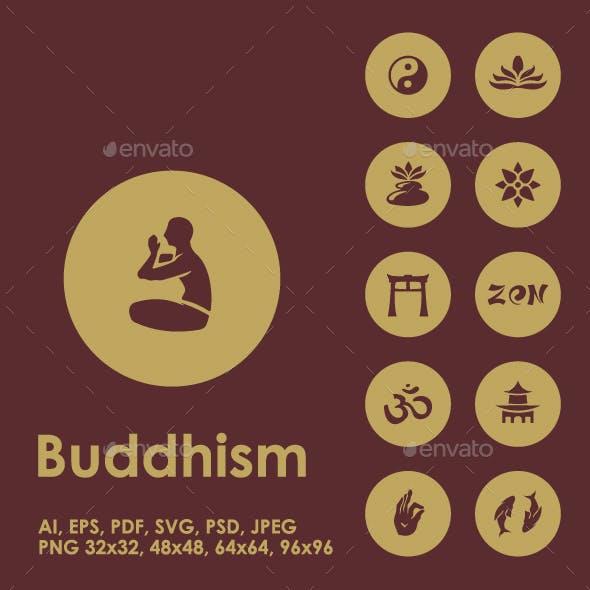 25 Buddhism icons
