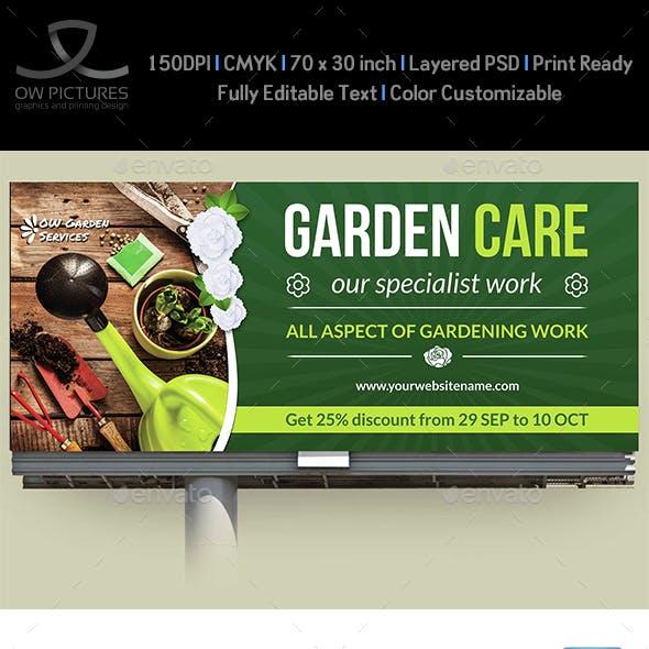 Garden Services Billboard Template