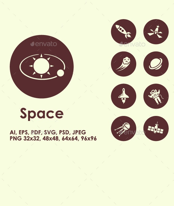 Space icons - Technology Icons