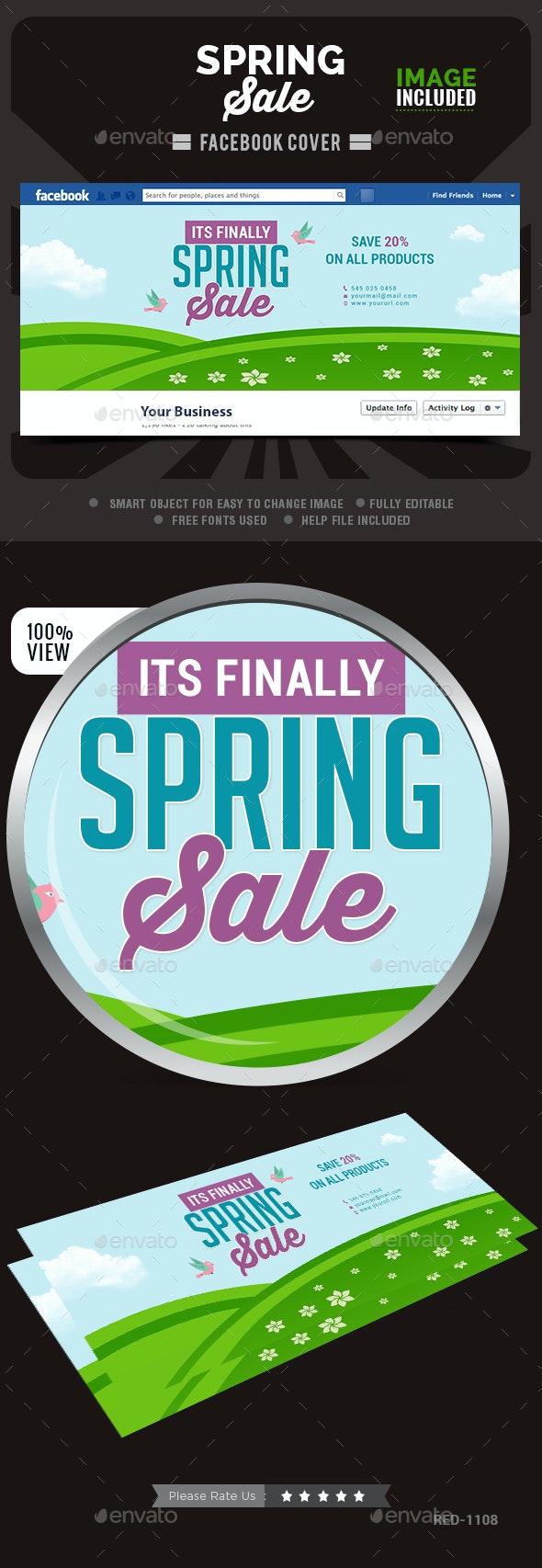 Spring Sale Facebook Cover - Facebook Timeline Covers Social Media