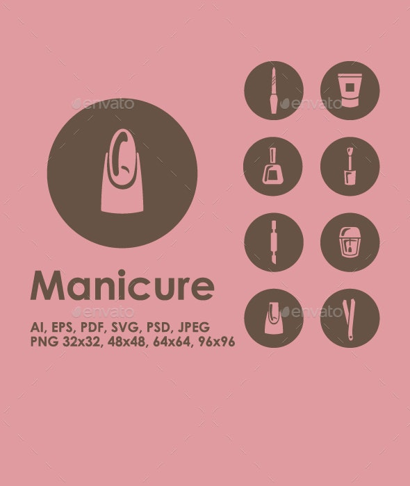 Manicure icons - Objects Icons