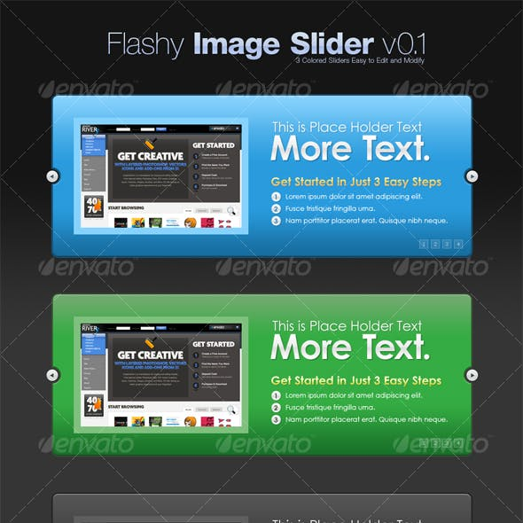 The Image Slider v0.1 (3 Colors)