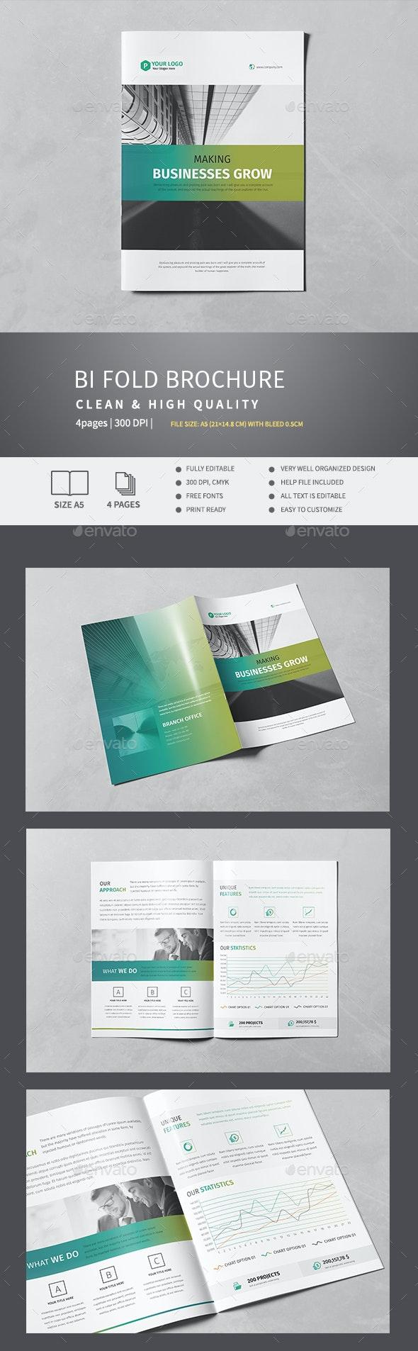 Corporate Bi-Fold Brochure v.2 - Corporate Brochures