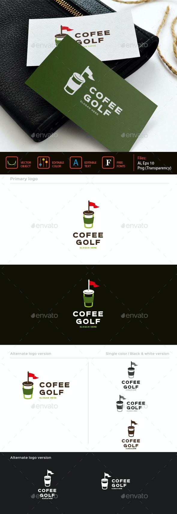 Coffee Golf logo - Symbols Logo Templates