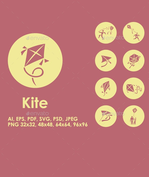 20 Kite icons - Objects Icons