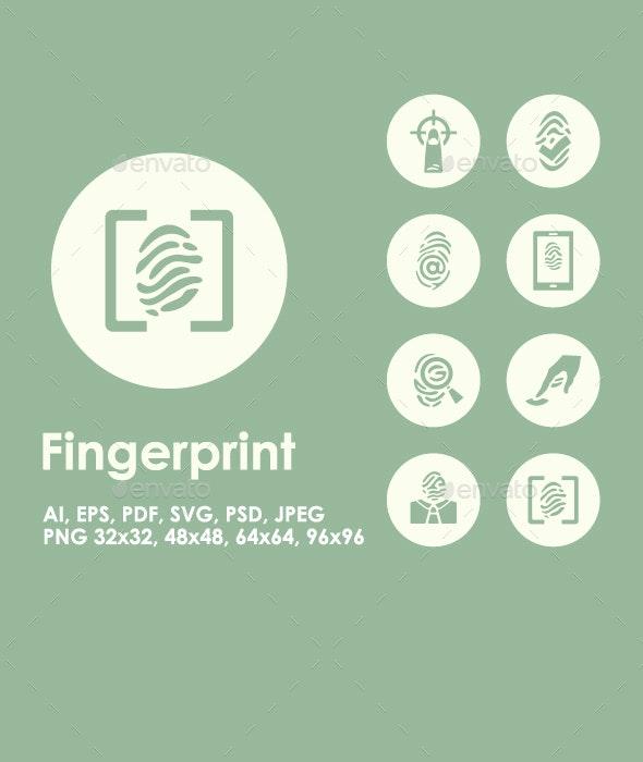 20 Fingerprint icons - Technology Icons