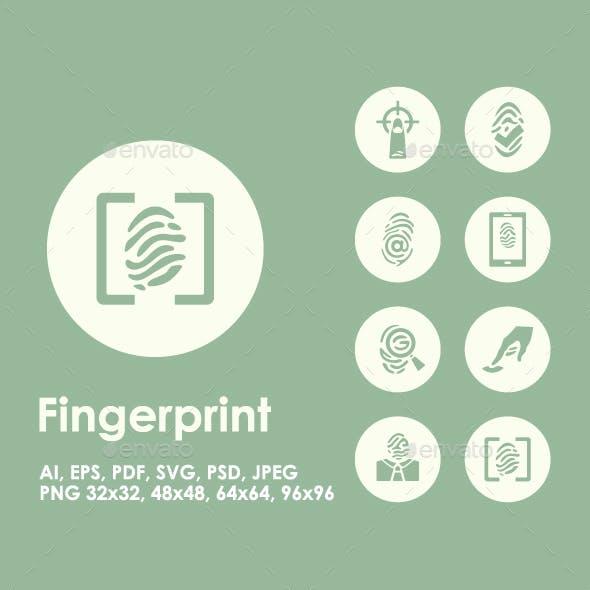 20 Fingerprint icons