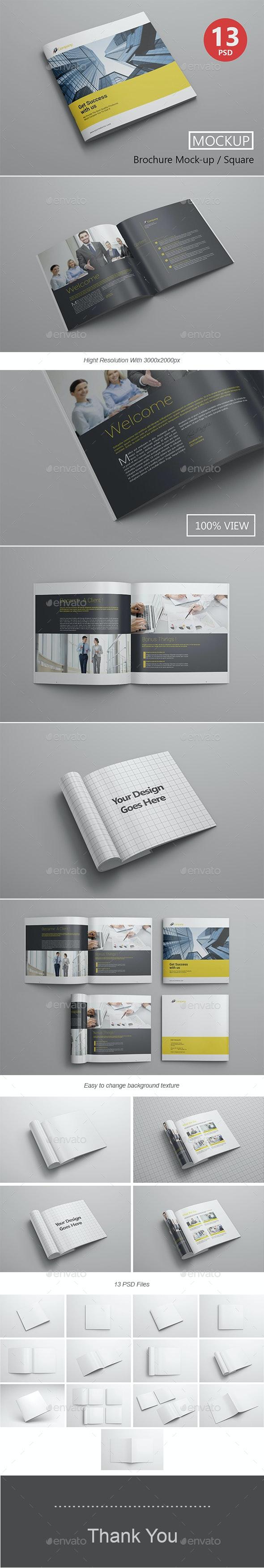 Brochure Mockup / Square - Product Mock-Ups Graphics