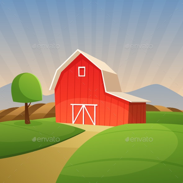 Red Farm Barn - Buildings Objects