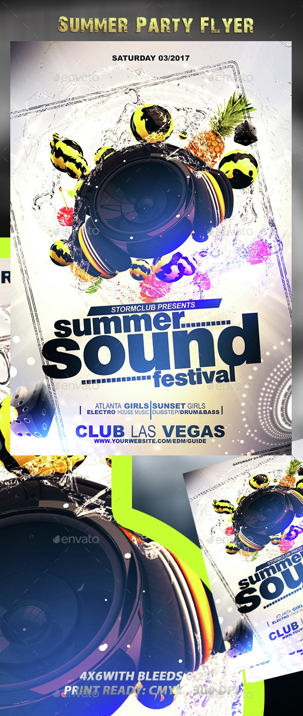 Summer Party Flyer V3 - Events Flyers