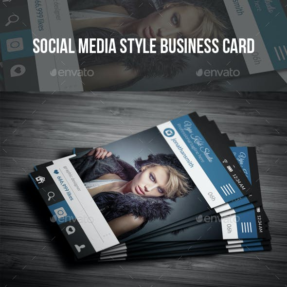Social Media Style Photography Business Card