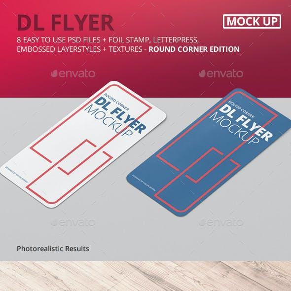 DL Vertical Flyer Round Corner Mockup