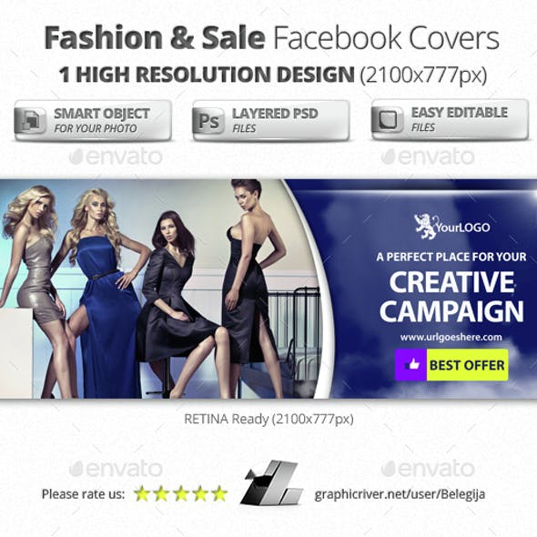 Fashion & Sale Facebook Covers