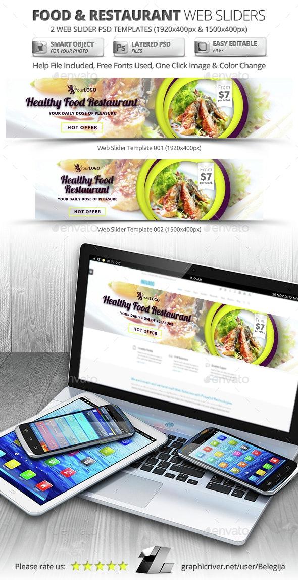 Food & Restaurant Web Sliders - Sliders & Features Web Elements