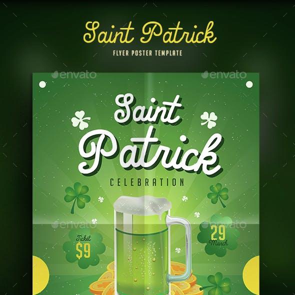 Saint Patrick Beer Flyer