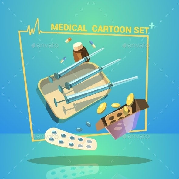 Medicine Cartoon Set - Health/Medicine Conceptual