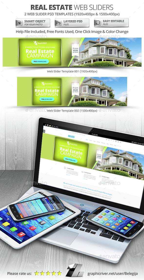 Real Estate Web Sliders - Sliders & Features Web Elements