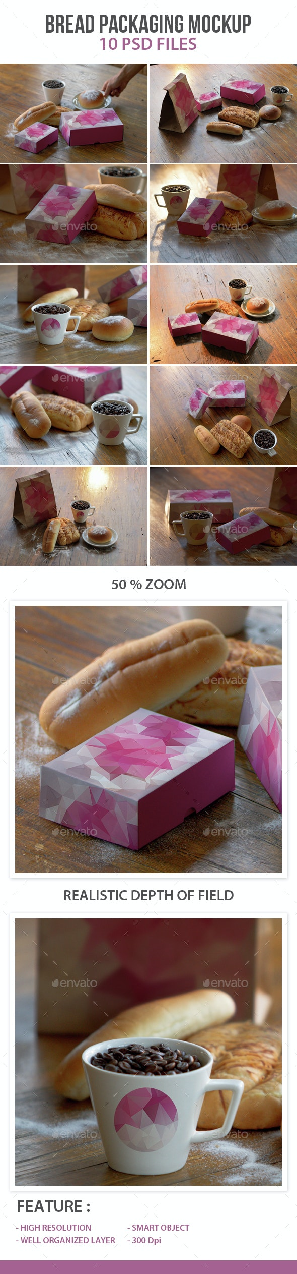 Bread Packaging Mockup - Product Mock-Ups Graphics