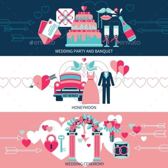 Horizontal Wedding Banners