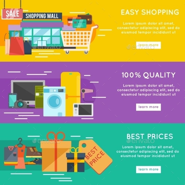 Shopping Banner Set - Retail Commercial / Shopping