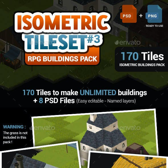 Isometric Tileset #3 - Buildings Creator Pack