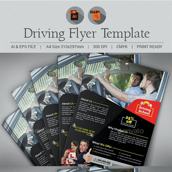 Driving Training Flyer template