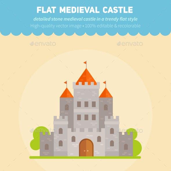 Medieval Flat Fantasy Castles