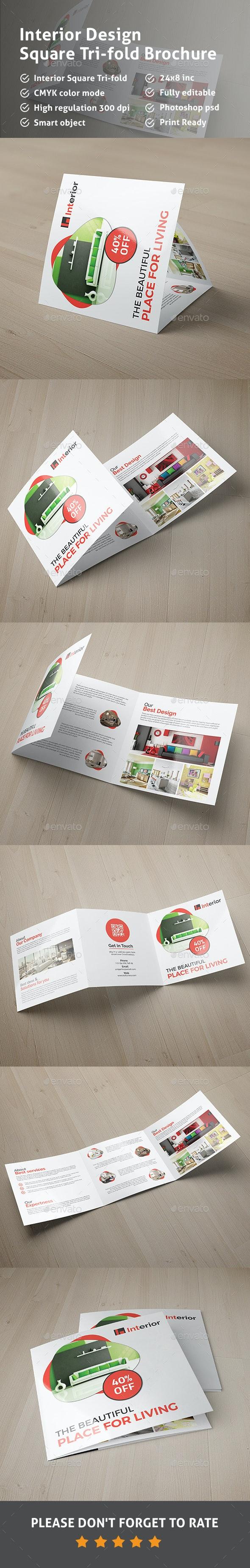 Square Trifold Brochure-Interior Design - Corporate Brochures