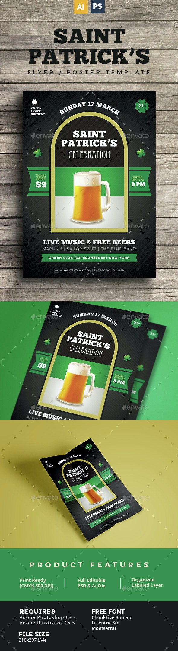 Saint Patrick Flyer / Poster - Holidays Events