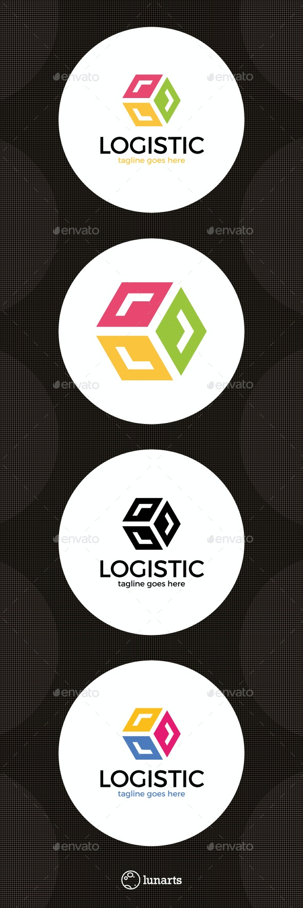 Delivery Box Arrow Logo - Abstract Logo Templates