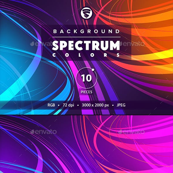 10 Backgrounds Spectrum colors