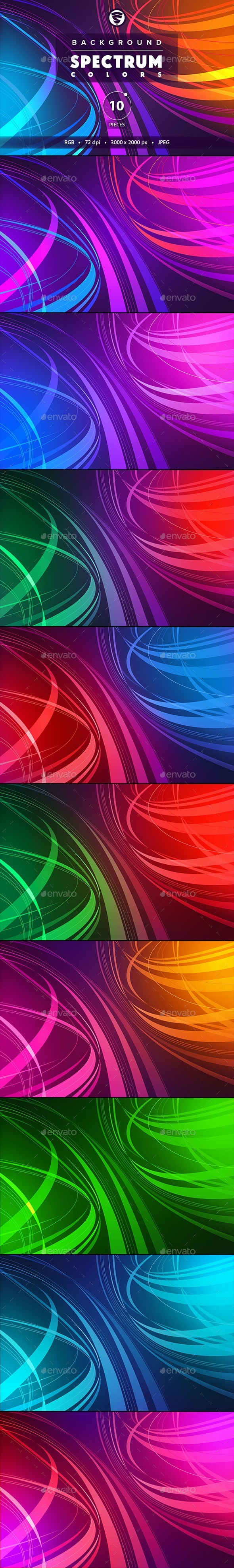 10 Backgrounds Spectrum colors - Abstract Backgrounds