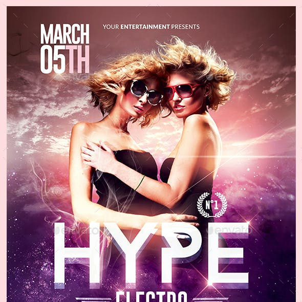 Hype Electro Flyer   Psd Template