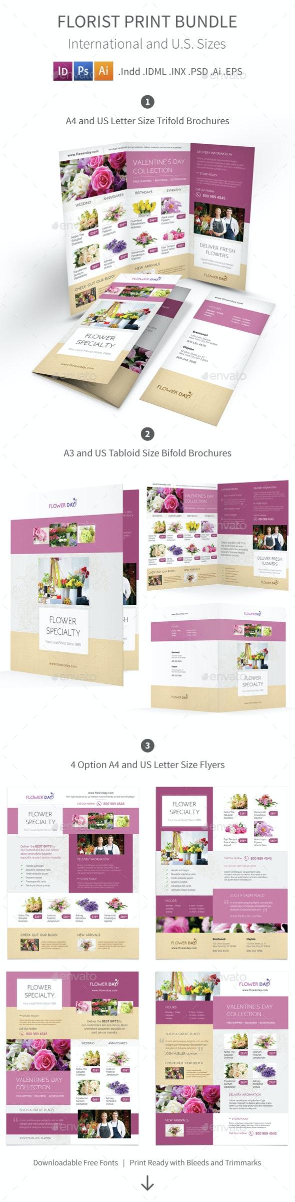 Florist Print Bundle 2 - Informational Brochures