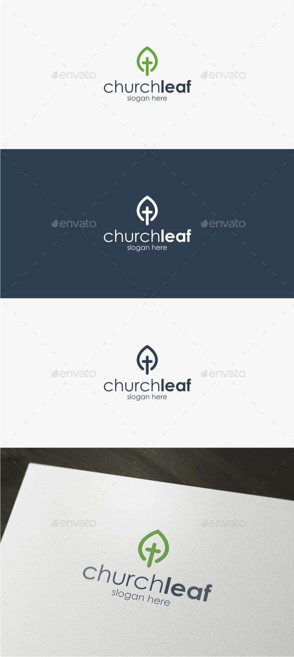 Church Leaf - Logo Template - Symbols Logo Templates