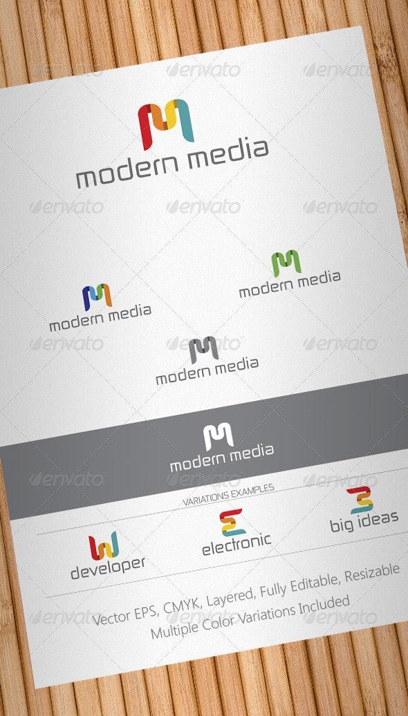 Modern Media Logo Template