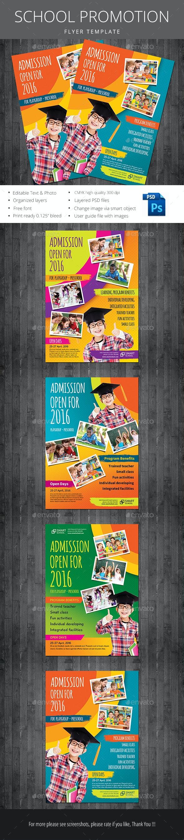 School Promotion - Flyers Print Templates