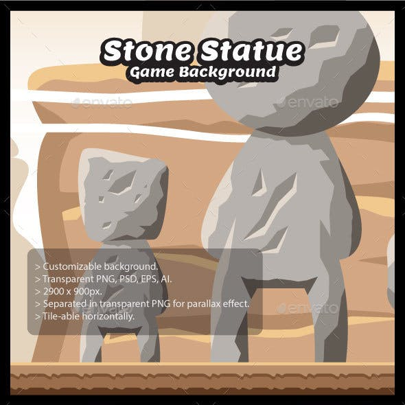 Stone Statue Game Background