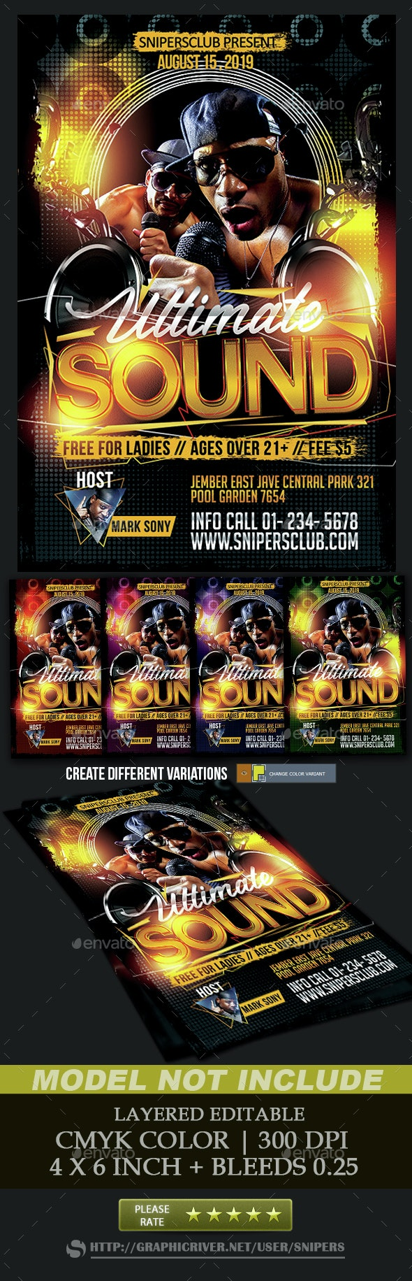 Ultimate Sound - Events Flyers